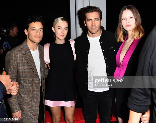 Actors Rami Malek Saoirse Ronan Jake Gyllenhaal and Mia Goth attend the Calvin Klein Collection front Row during New York Fashion Week at New York...