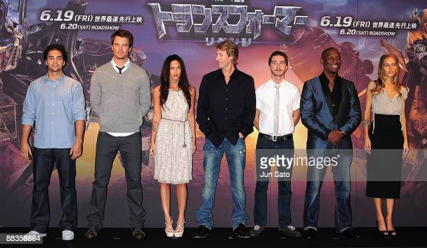 Actors Ramon Rodriguez Josh Duhamel actress Megan Fox director Michael Bay actors Shia LaBeouf Tyrese Gibson and actress Isabel Lucas attend the...