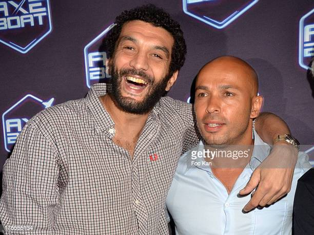 Actors Ramzy Bedia and Eric Judor attend the Axe Boat 2013 Launch Party at Cannes Harbourg on August 3 2013 in Saint Tropez France
