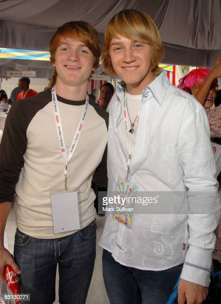 Actors Randall Bentley and Jason Dolley attend 'Target Presents Variety's Power of Youth' event held at NOKIA Theatre LA LIVE on October 4 2008 in...