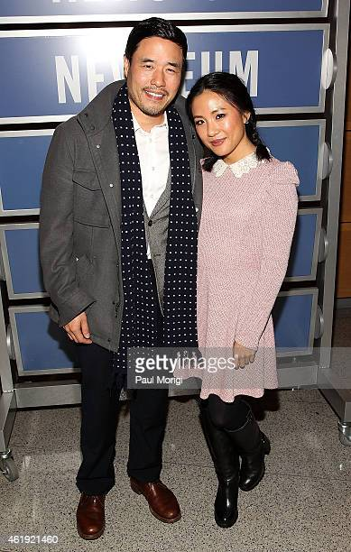 Actors Randall Park and Constance Wu attends the Fresh Off The Boat Washington DC Screening at The Newseum on January 21 2015 in Washington DC