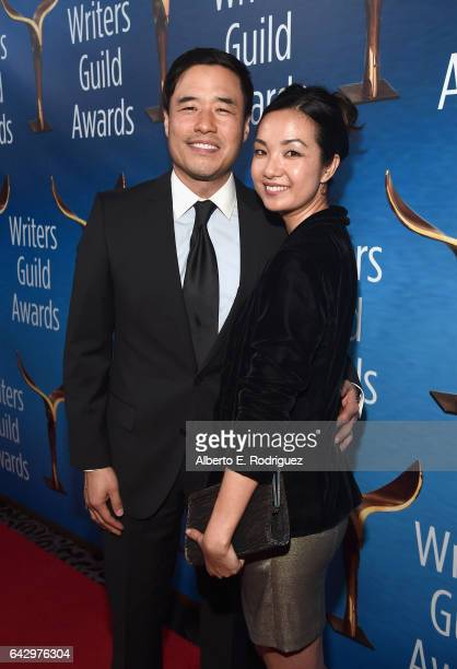 Actors Randall Park and Jae Suh Park attend the 2017 Writers Guild Awards LA Ceremony at The Beverly Hilton Hotel on February 19 2017 in Beverly...