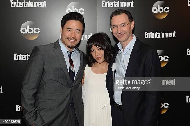 Actors Randall Park Constance Wu and ABC Entertainment Group president Paul Lee attend the Entertainment Weekly ABC Upfronts Party at Toro on May 13...
