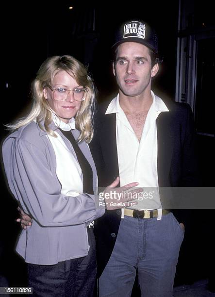 Actors Randi Oakes and Gregory Harrison attend the 'Billy Bud' Opening Night Party on January 22 1984 at Santo Pietro's Pizzeria in Beverly Hills...