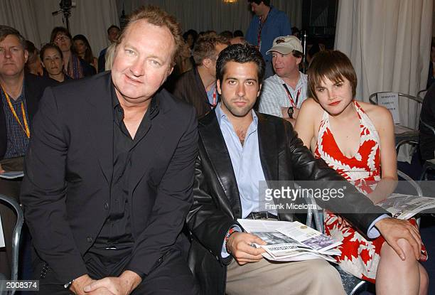 Actors Randy Quaid Troy Garity and Alison Folland pose at a panel discussion during the 'Variety Cannes Conference Series 2003' on May 16 2003 in...