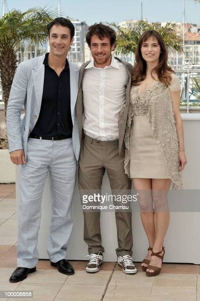 Actors Raoul Bova Elio Germano and Stefania Montorsi attend the 'Our Life' Photo Call held at the Palais des Festivals during the 63rd Annual...