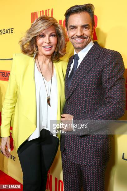 Actors Raquel Welch and Eugenio Derbez attend the premiere of How To Be A Latin Lover on April 26 2017 in Los Angeles California