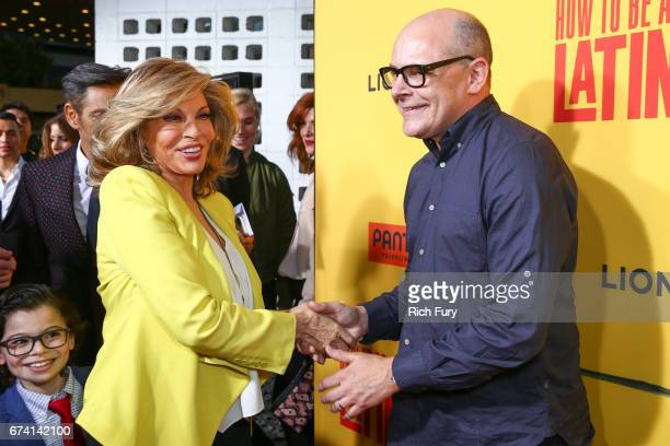 Actors Raquel Welch and Rob Corddry attend the premiere of How To Be A Latin Lover on April 26 2017 in Los Angeles California