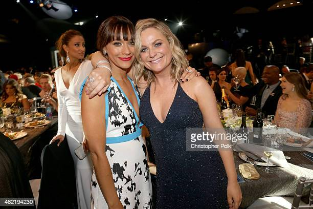 Actors Rashida Jones and Amy Poehler onstage at TNT's 21st Annual Screen Actors Guild Awards at The Shrine Auditorium on January 25, 2015 in Los...