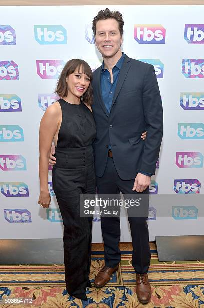 Actors Rashida Jones and Hayes MacArthur attend the 2016 TCA Turner Winter Press Tour Presentation at the Langham Hotel on January 7, 2016 in...