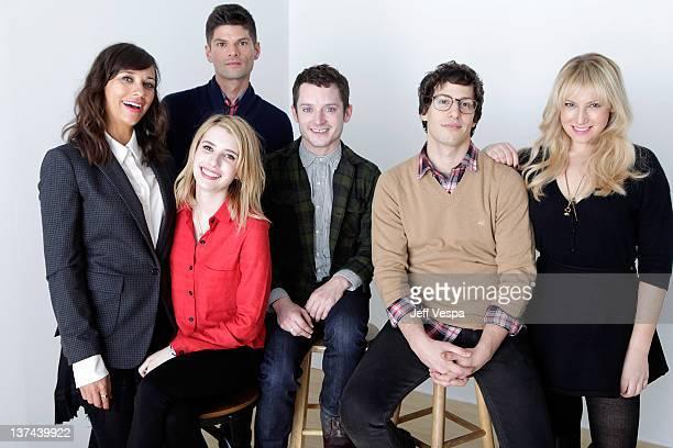 Actors Rashida Jones Emma Roberts Will McCormack Elijah Wood Andy Samberg and Ari Graynor pose for a portrait during the 2012 Sundance Film Festival...