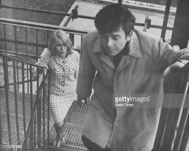 Actors Ray Brooks and Carol White in a scene from the BBC television drama 'Cathy Come Home' 1966