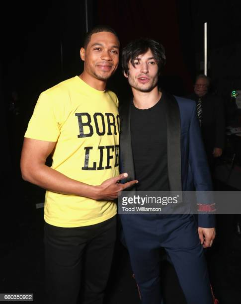 """Actors Ray Fisher and Ezra Miller at CinemaCon 2017 Warner Bros Pictures Invites You to """"The Big Picture"""" an Exclusive Presentation of our Upcoming..."""