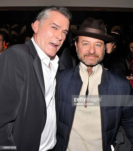 Actors Ray Liotta and Fisher Stevens attend the after party for a screening of The Weinstein Company's 'Killing Them Softly' hosted by The Cinema...