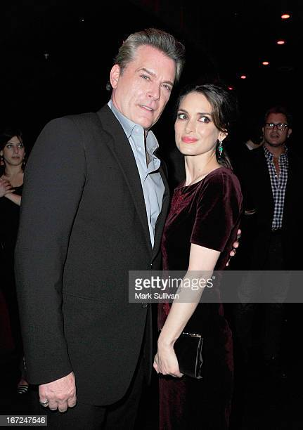 Actors Ray Liotta and Winona Ryder attend the after party for Millennium Entertainment's 'The Iceman' at Supperclub on April 22 2013 in Hollywood...