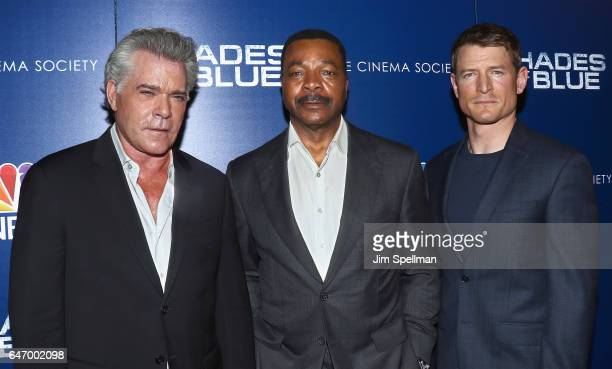 Actors Ray Liotta Carl Weathers and Philip Winchester attend the season 2 premiere of 'Shades Of Blue' hosted by NBC and The Cinema Society at The...