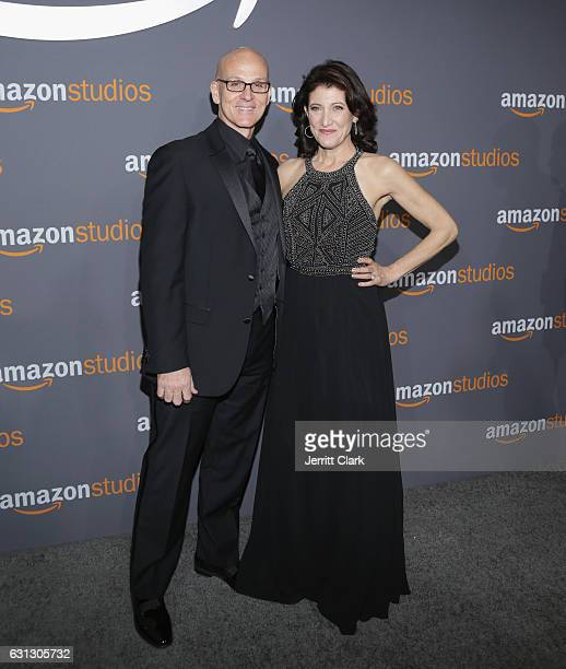 Actors Ray Proscia and Amy Aquino attend the Amazon Studios Golden Globes Party at The Beverly Hilton Hotel on January 8 2017 in Beverly Hills...