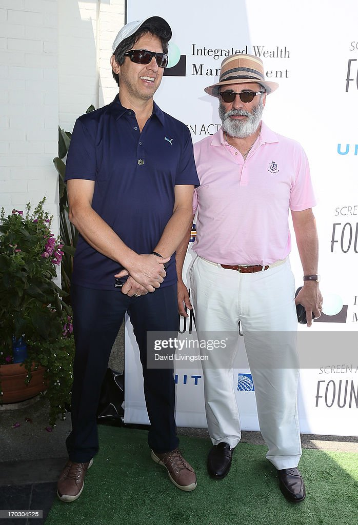 Actors Ray Romano (L) and Andy Garcia attend the Screen Actors Guild Foundation 4th Annual Los Angeles Golf Classic at Lakeside Golf Club on June 10, 2013 in Burbank, California.