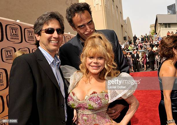 Actors Ray Romano, Charo, and Brad Garrett arrive at the 8th Annual TV Land Awards at Sony Studios on April 17, 2010 in Los Angeles, California.