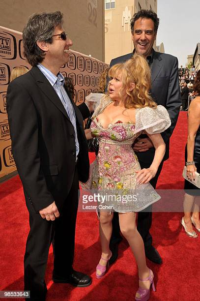 Actors Ray Romano Charo and Brad Garrett arrive at the 8th Annual TV Land Awards at Sony Studios on April 17 2010 in Los Angeles California