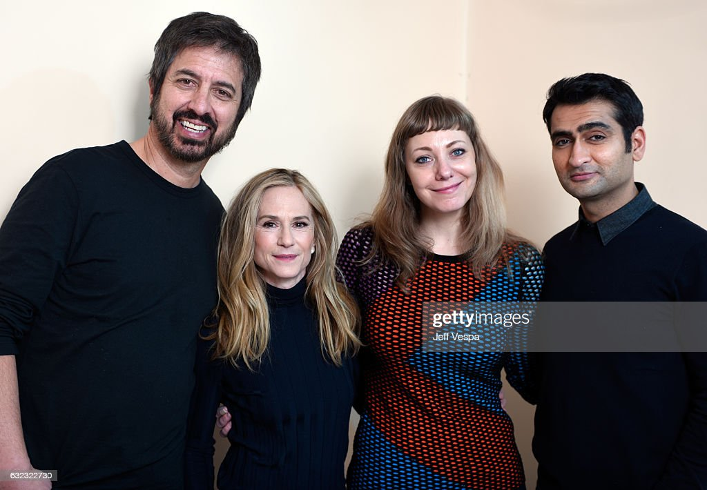 Actors Ray Romano, Holly Hunter, filmmakers Emily V. Gordon and Kumail Nanjiani from the film 'The Big Sick' pose for a portrait in the WireImage Portrait Studio presented by DIRECTV during the 2017 Sundance Film Festival on January 21, 2017 in Park City, Utah.