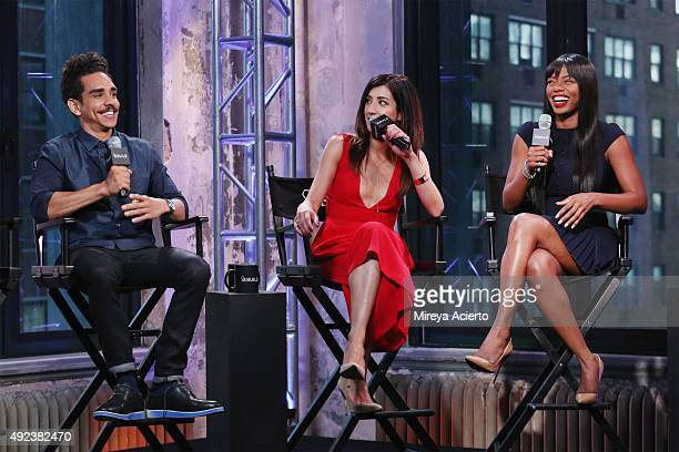 Actors Ray Santiago Dana DeLorenzo and Jill Marie Jones attend AOL Build presents Ash vs Evil Dead at AOL Studios in New York on October 12 2015 in...