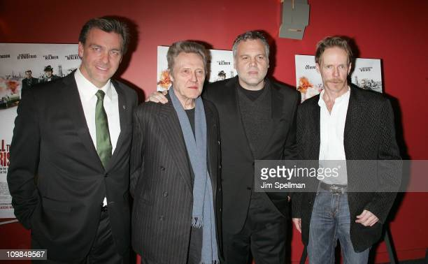 Actors Ray Stevenson Christopher Walken Vincent D'Onofrio and Director Jonathan Hensleigh attend the premiere of Kill the Irishman at Landmark's...