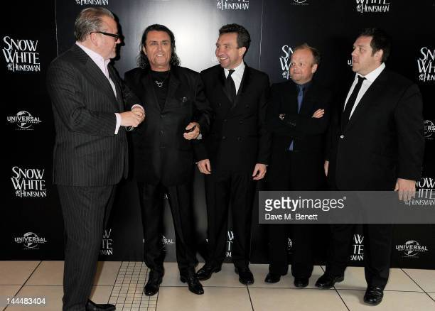 Actors Ray Winstone Ian McShane Eddie Marsan Toby Jones and Nick Frost attend the World Premiere of 'Snow White And The Huntsman' at Empire Leicester...
