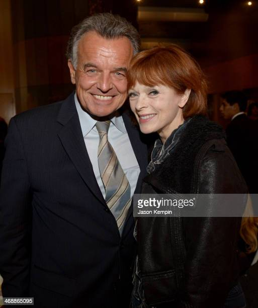Actors Ray Wise and Frances Fisher celebrate the world premiere of 'Farmed and Dangerous' a Chipotle/Piro production at DGA Theater on February 11...