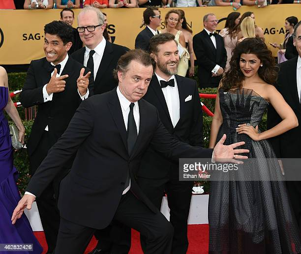 Actors Raza Jaffrey Tracy Letts Michael O'Keefe Maury Sterling and Nimrat Kaur attend the 21st Annual Screen Actors Guild Awards at The Shrine...