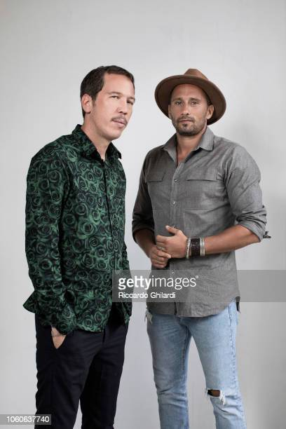 Actors Read Kateb and Matthias Schoenaerts is photographed for Self Assignment on September 2018 in Venice Italy