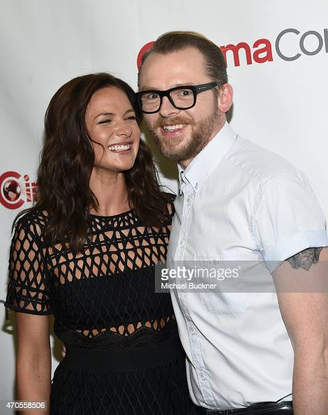 Actors Rebecca Ferguson and Simon Pegg attend The State of ...