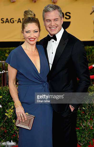 Actors Rebecca Gayheart and Eric Dane attend the 21st Annual Screen Actors Guild Awards at The Shrine Auditorium on January 25 2015 in Los Angeles...