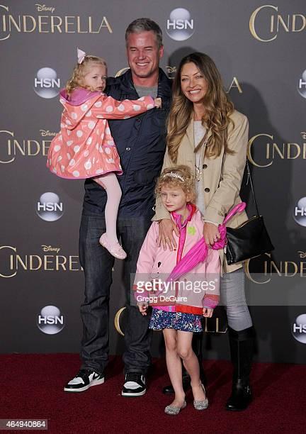 Actors Rebecca Gayheart Eric Dane daughter's Billie Beatrice Dane and Georgia Dane arrive at the World Premiere of Disney's 'Cinderella' at the El...