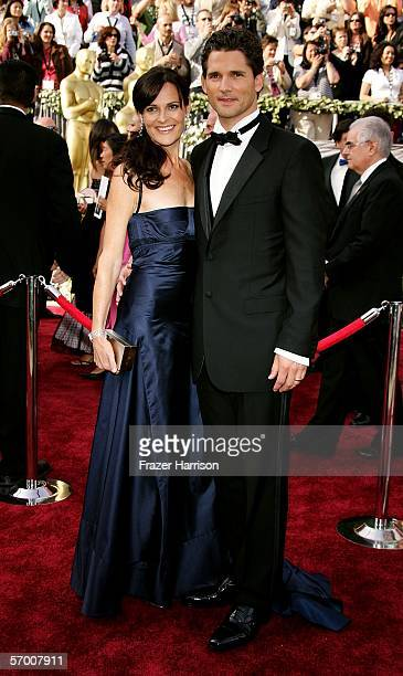 Actors Rebecca Gleeson and Eric Bana arrive to the 78th Annual Academy Awards at the Kodak Theatre on March 5 2006 in Hollywood California