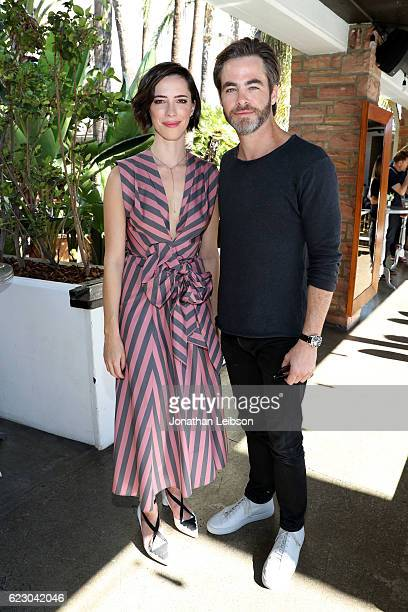 Actors Rebecca Hall and Chris Pine attend the Indie Contenders Reception hosted in the Audi Sky Lounge at AFI Fest 2016 presented by Audi at...