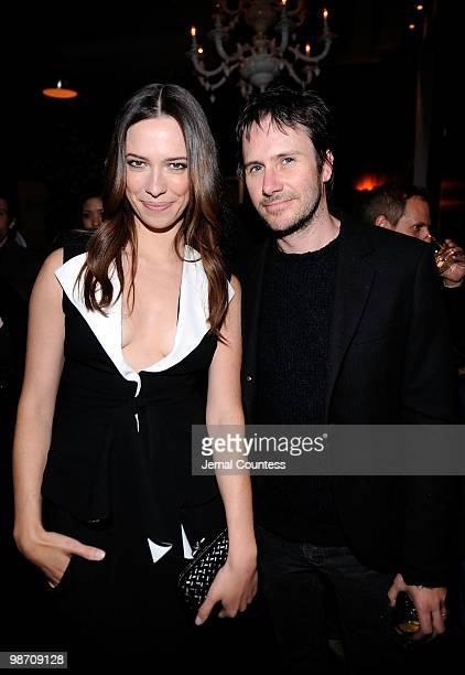 Actors Rebecca Hall and Josh Hamilton attend the Please Give after party during the 2010 Tribeca Film Festival at Thom Bar on April 27 2010 in New...