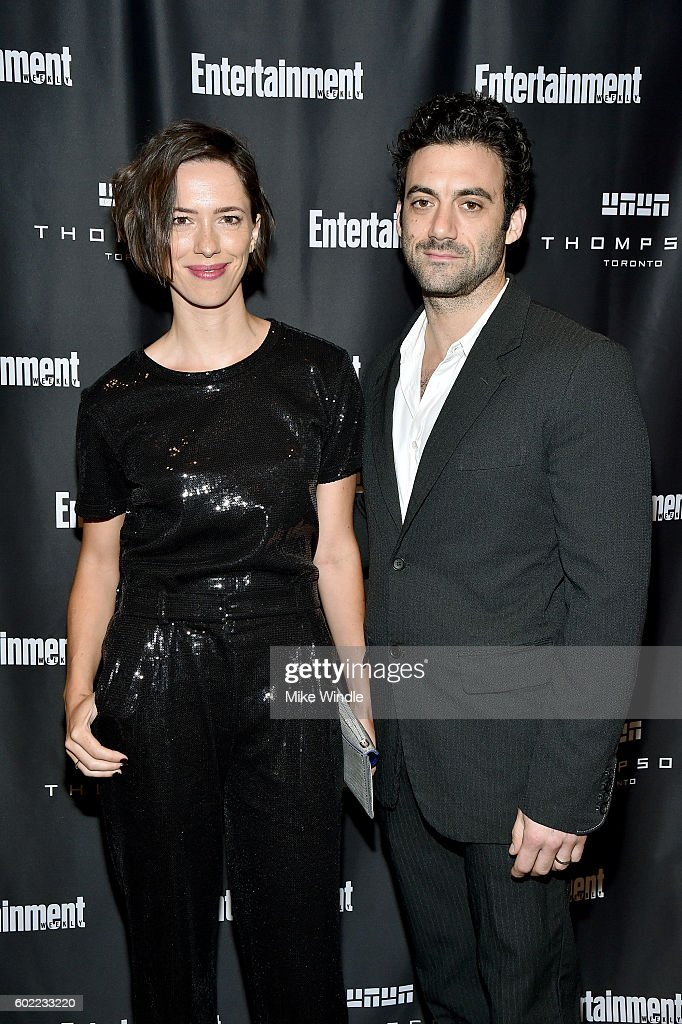Actors Rebecca Hall (L) and Morgan Spector attend Entertainment Weekly's Toronto Must List party at the Thompson Hotel on September 10, 2016 in Toronto, Canada.