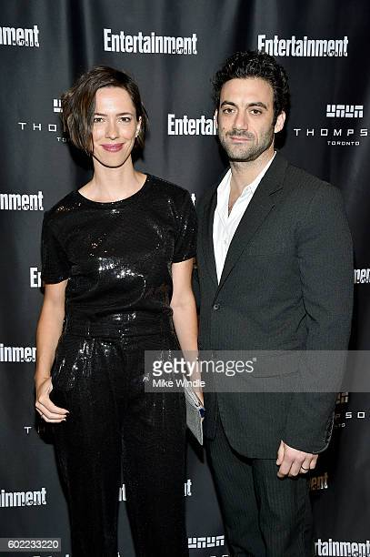 Actors Rebecca Hall and Morgan Spector attend Entertainment Weekly's Toronto Must List party at the Thompson Hotel on September 10 2016 in Toronto...