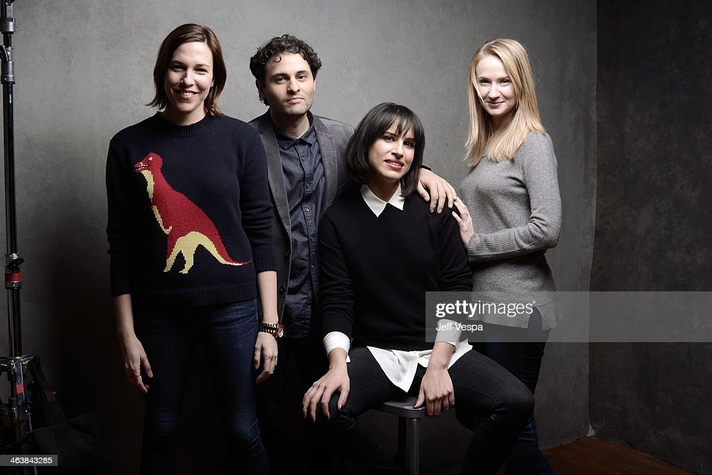 Actors Rebecca Henderson and Arian Moayed, filmmaker Desiree Akhavan, and actress Halley Feiffer pose for a portrait during the 2014 Sundance Film Festival at the Getty Images Portrait Studio at the Village At The Lift Presented By McDonald's McCafe on January 19, 2014 in Park City, Utah.