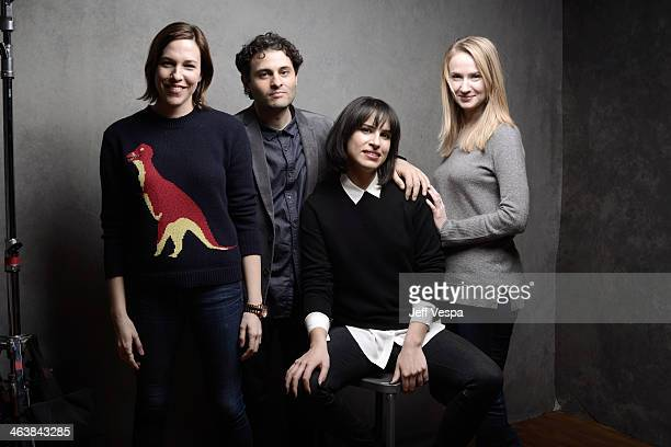 Actors Rebecca Henderson and Arian Moayed filmmaker Desiree Akhavan and actress Halley Feiffer pose for a portrait during the 2014 Sundance Film...