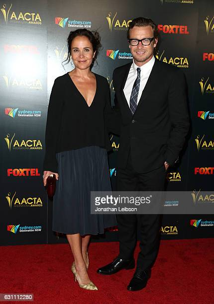 Actors Rebecca Rigg and Simon Baker attend The 6th AACTA International Awards on January 6 2017 in Los Angeles California