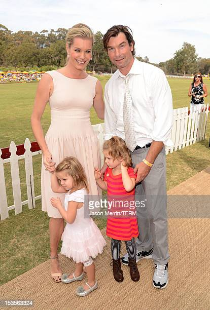 Actors Rebecca Romijn and Jerry O'Connell attend the Third Annual Veuve Clicquot Polo Classic at Will Rogers State Historic Park on October 6 2012 in...
