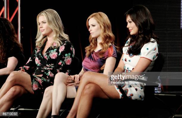 Actors Rebecca Romijn Jamie Ray Newman and Lindsay Price of the television show Eastwick speak during the ABC Network portion of the 2009 Summer...