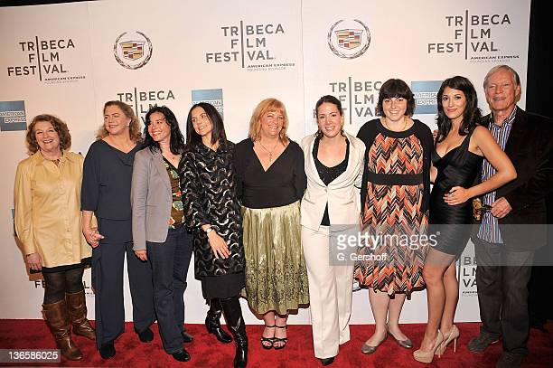 Actors Rebecca Wackler Kathleen Turner writer Paula Goldberg director Anne Renton producers Connie Cummings Cora Olsen and Jennifer Dubin and actors...