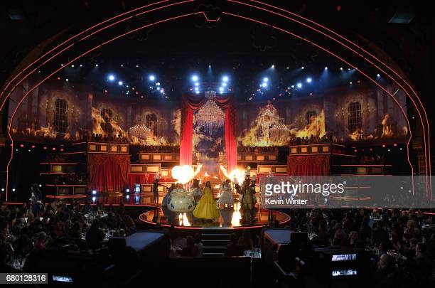 Actors Rebel Wilson and Hailee Steinfeld perform onstage during the 2017 MTV Movie And TV Awards at The Shrine Auditorium on May 7 2017 in Los...