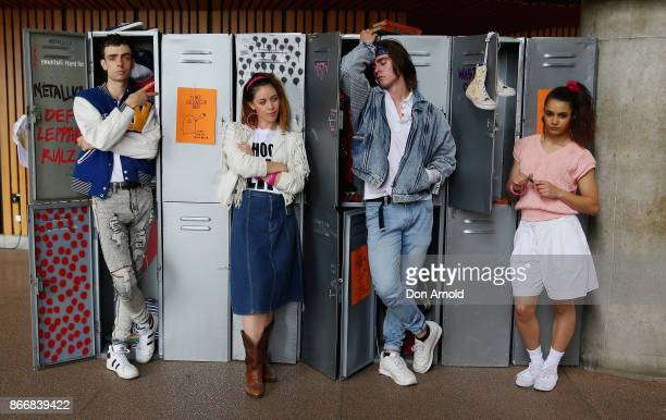 Actors recreate a scene during the Australian premiere of Stranger Things Season 2 at Sydney Opera House on October 27 2017 in Sydney Australia