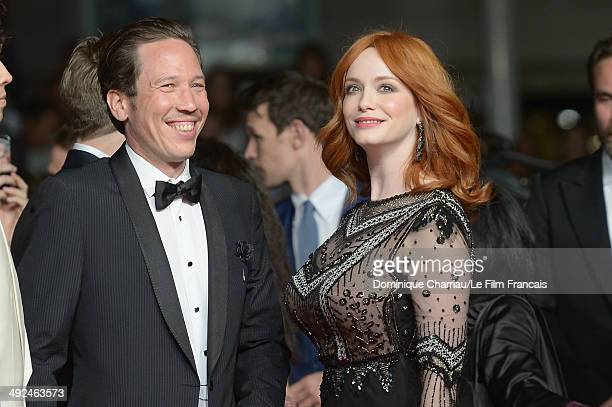 Actors Reda Kateb and Christina Hendricks attend the 'Lost River' Premiere during the 67th Annual Cannes Film Festival on May 20 2014 in Cannes France