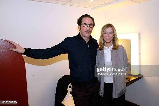 Actors Reda Kateb and Lea Drucker present the Movie 'Arretezmoi la' during the 'Vivement Dimanche' French TV Show at Pavillon Gabriel on December 21...