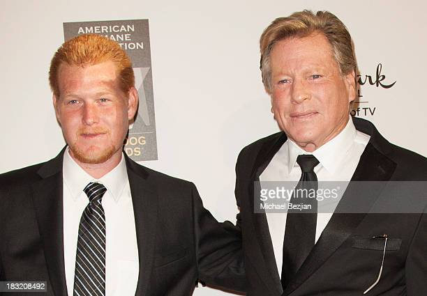 Actors Redmond O'Neal and Ryan O'Neal arrive at the 3rd Annual American Humane Association Hero Dog Awards at The Beverly Hilton Hotel on October 5...